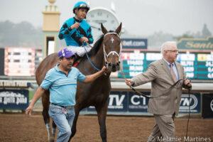 Victor Espinoza Celebrates Aboard Finnegans Wake After Winning San Marcos