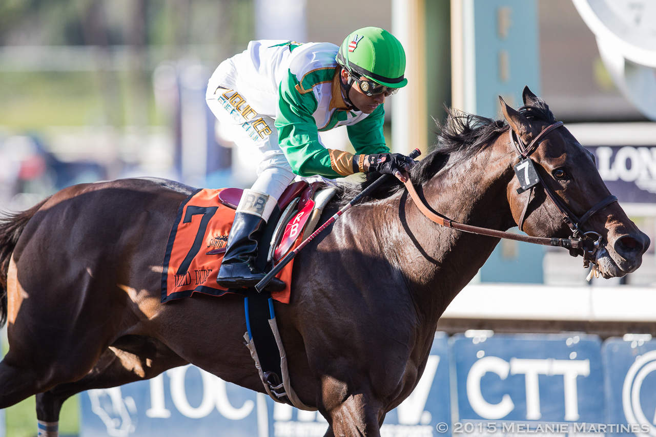Wild Dude and Rafael Bejarano cross the wire first in the G2 San Carlos S.