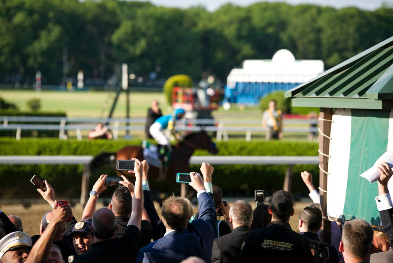 American Pharoah - BELMONT STAKES 147TH Running (Grade I) - 06-06-15 - TRIPLE CROWN - BEL - Photo credit: Christine Aplin