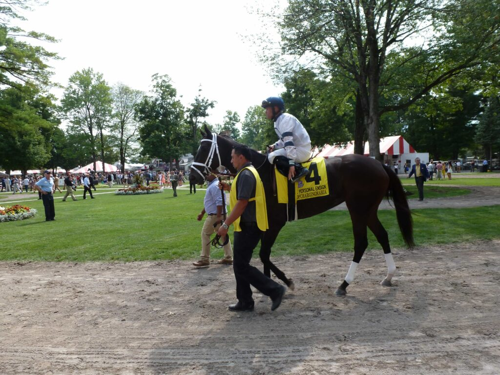 Stopchargingmaria - PERSONAL ENSIGN STAKES (Grade I) - 08-29-15 - R6 - SAR - Photo credit: Mike Spector (Follow him on Twitter @SaratogaSlim)