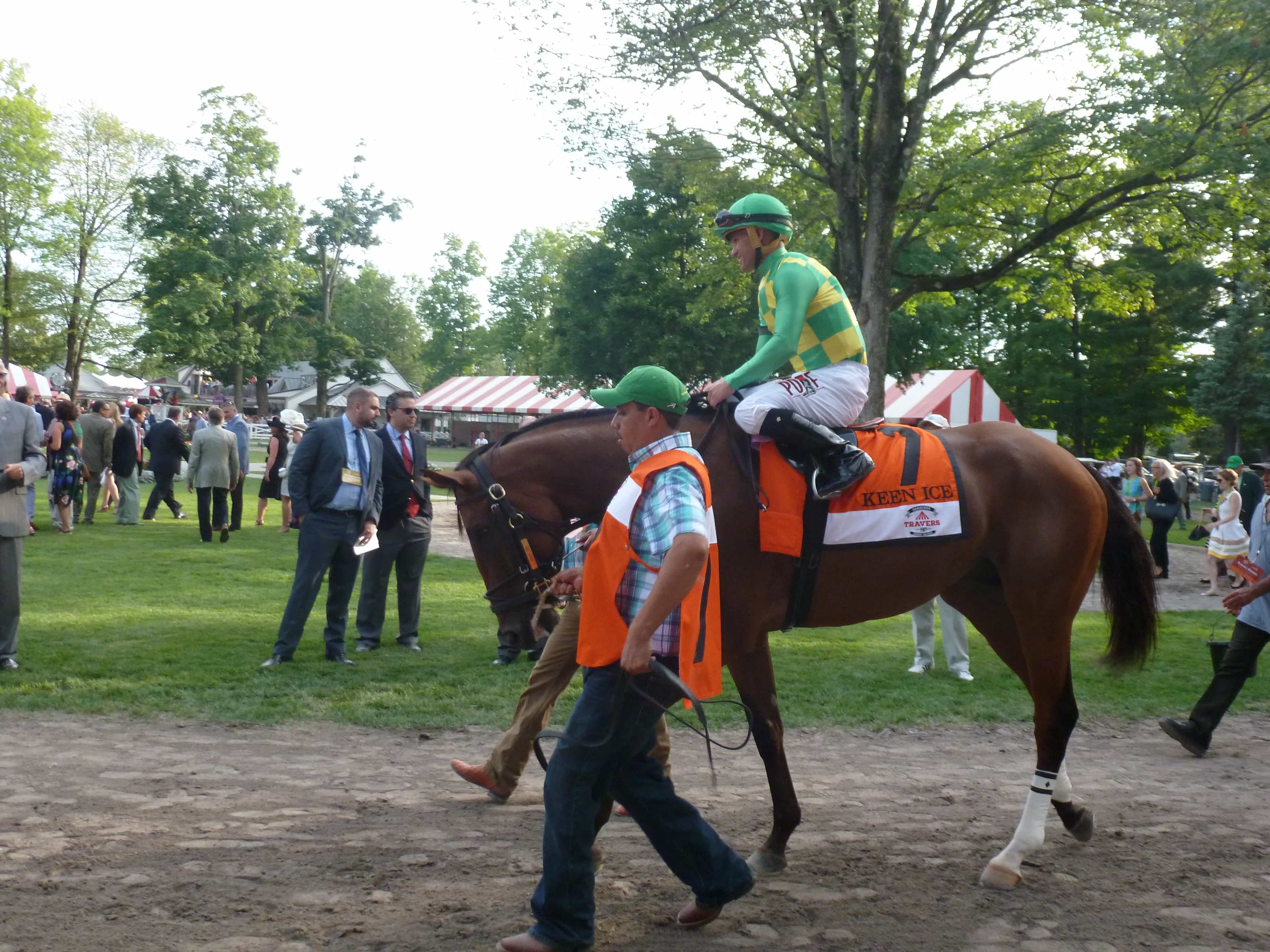 Keen Ice - TRAVERS STAKES (Grade I) - 08-29-15 - R11 - SAR - Photo credit: Mike Spector (Follow him on Twitter @SaratogaSlim)
