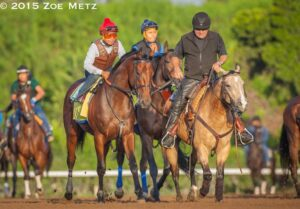 American Pharoah and pony Smokey - Photo Credit: Zoe Metz