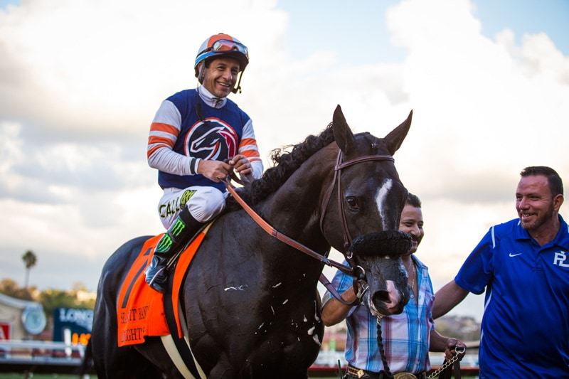 Midnight Storm cruised to win Friday's featured Grade II $250,000 Seabiscuit Handicap - DMR - Photo Credit: Zoe Metz Photography