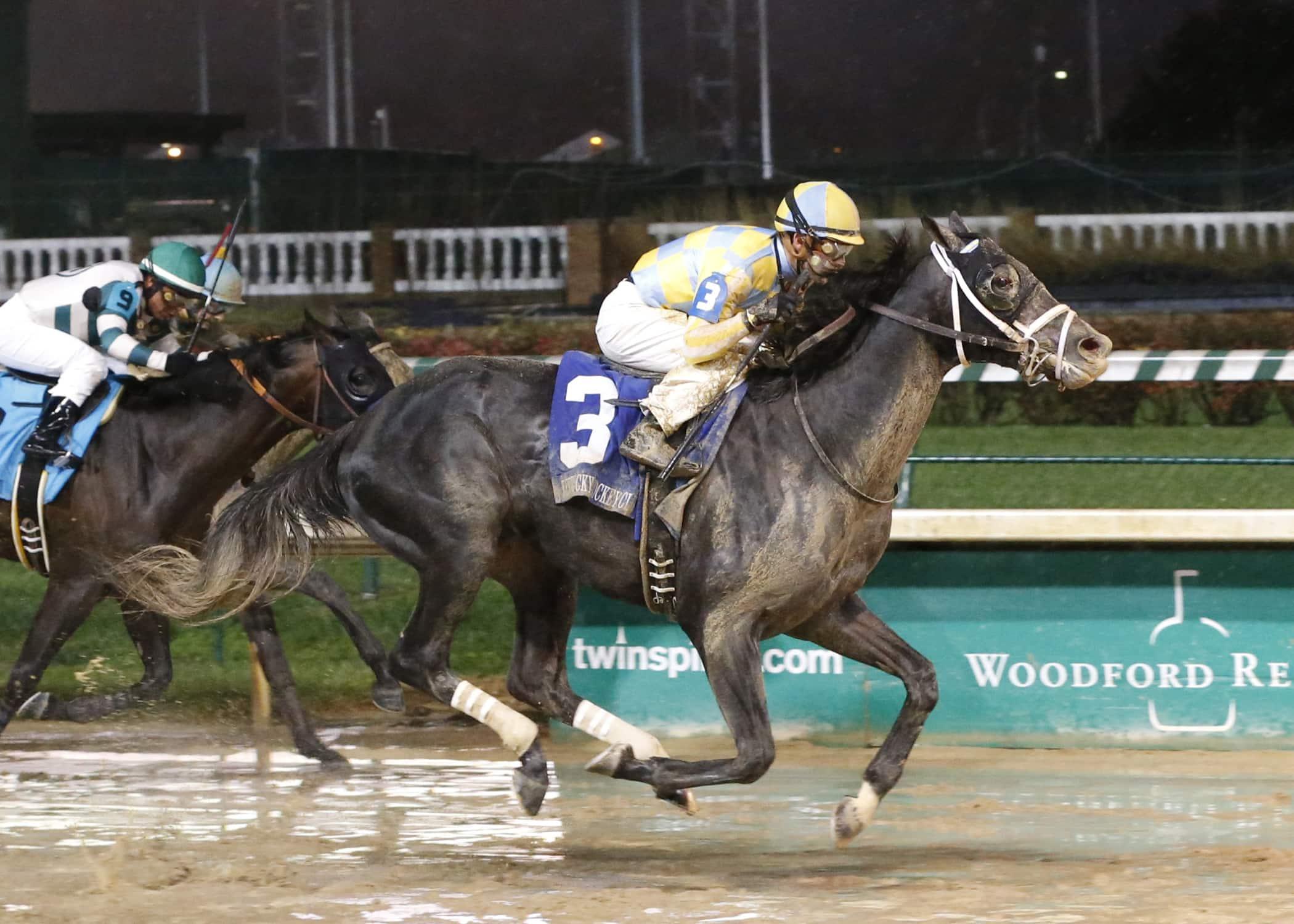 Airoforce Wins Kentucky Jockey Club (finish) - Photo Credit: Churchill Downs/Reed Palmer Photography