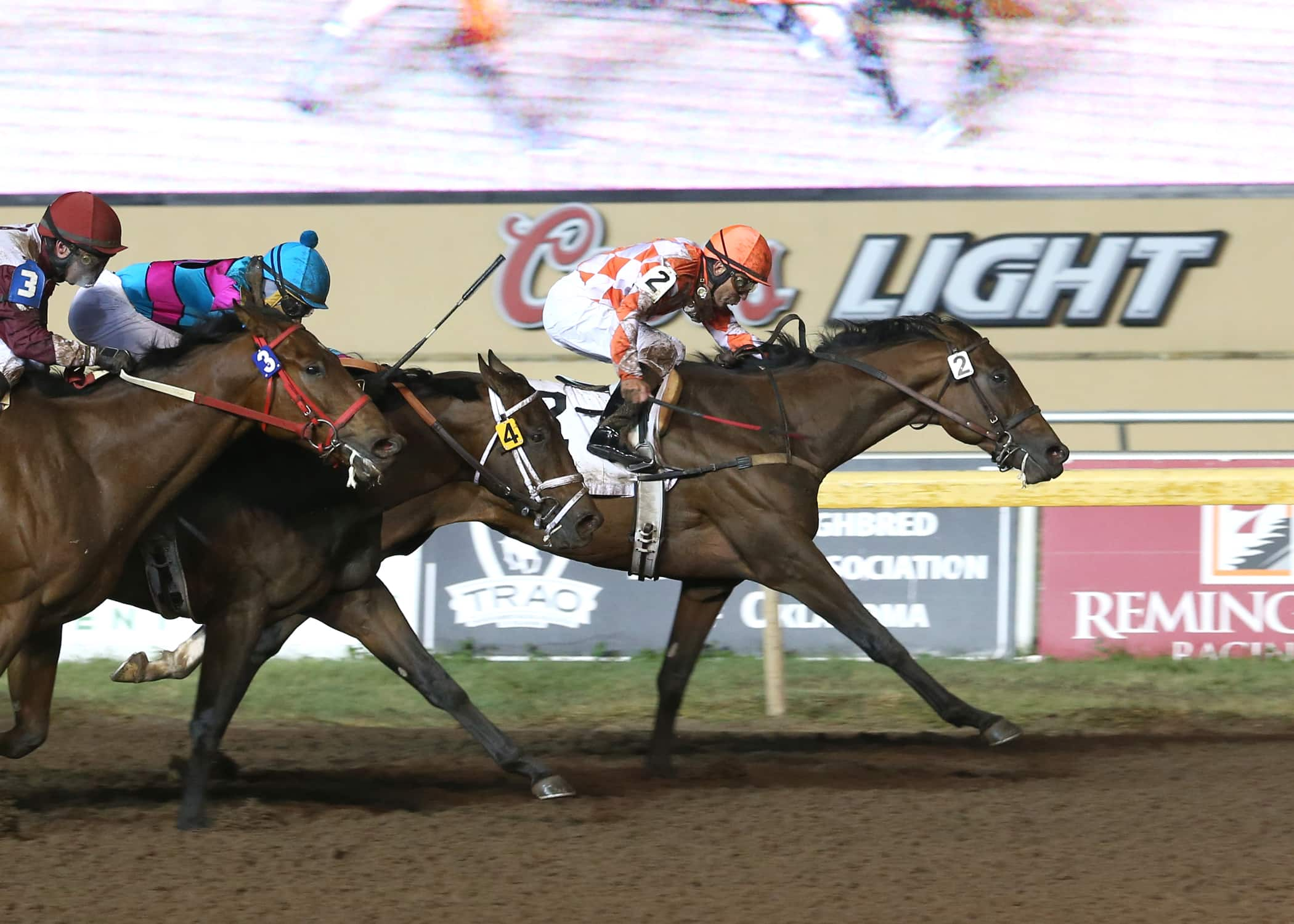 Suddenbreakingnews winning the Clever Trevor Stakes at Remington Park, November 6 under Luis Quinonez - Photo Credit: Dustin Orona Photography