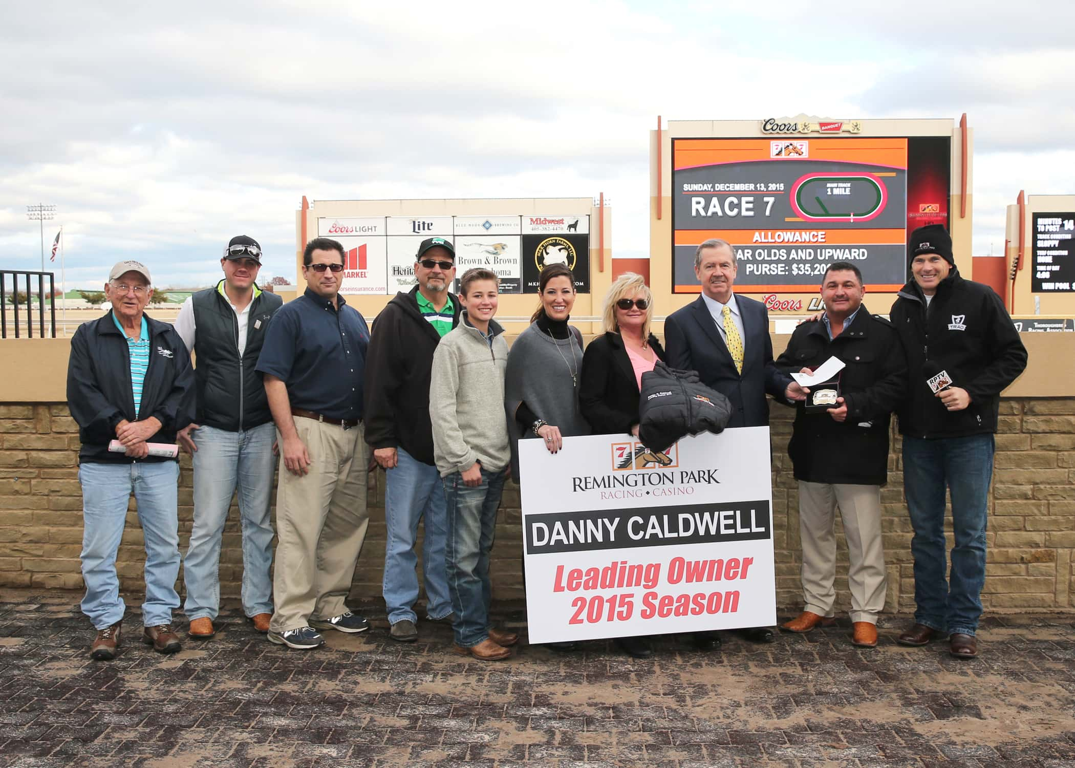 2015 Leading Owner Danny Caldwell Presentation at Remington Park - Photo Credit: Dustin Orona Photography
