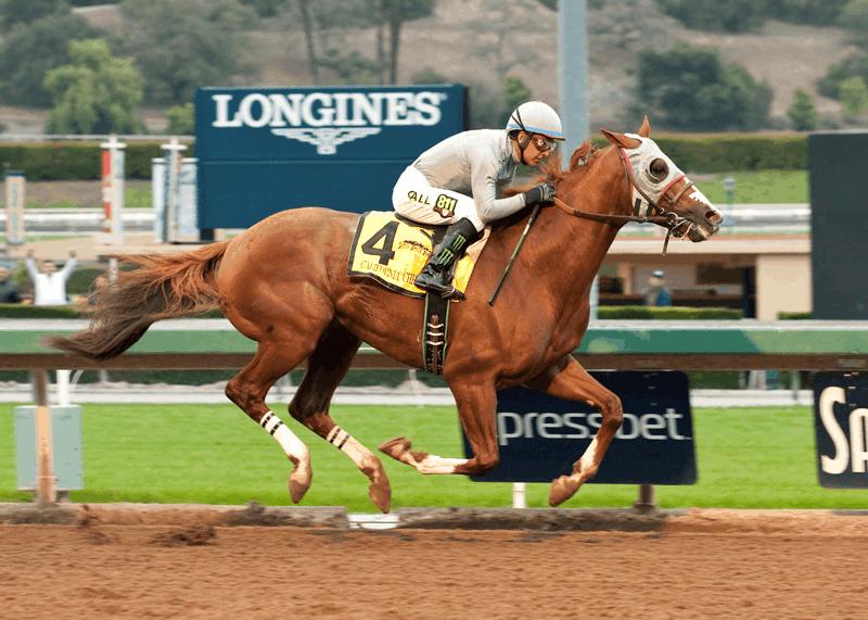 California Chrome begins 2016 comeback by winning Grade II, $200,000 San Pasqual Stakes - Photo Credit: Benoit Photo