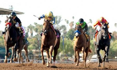 Forever Darling takes the Grade II, $200,000 Santa Ynez Stakes at Santa Anita Park - Photo Credit: ©Benoit Photo