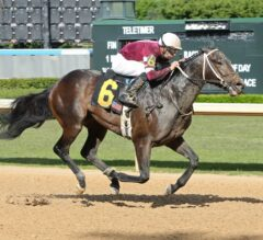 Counterforce Flies Late to Take Bachelor Stakes at Oaklawn