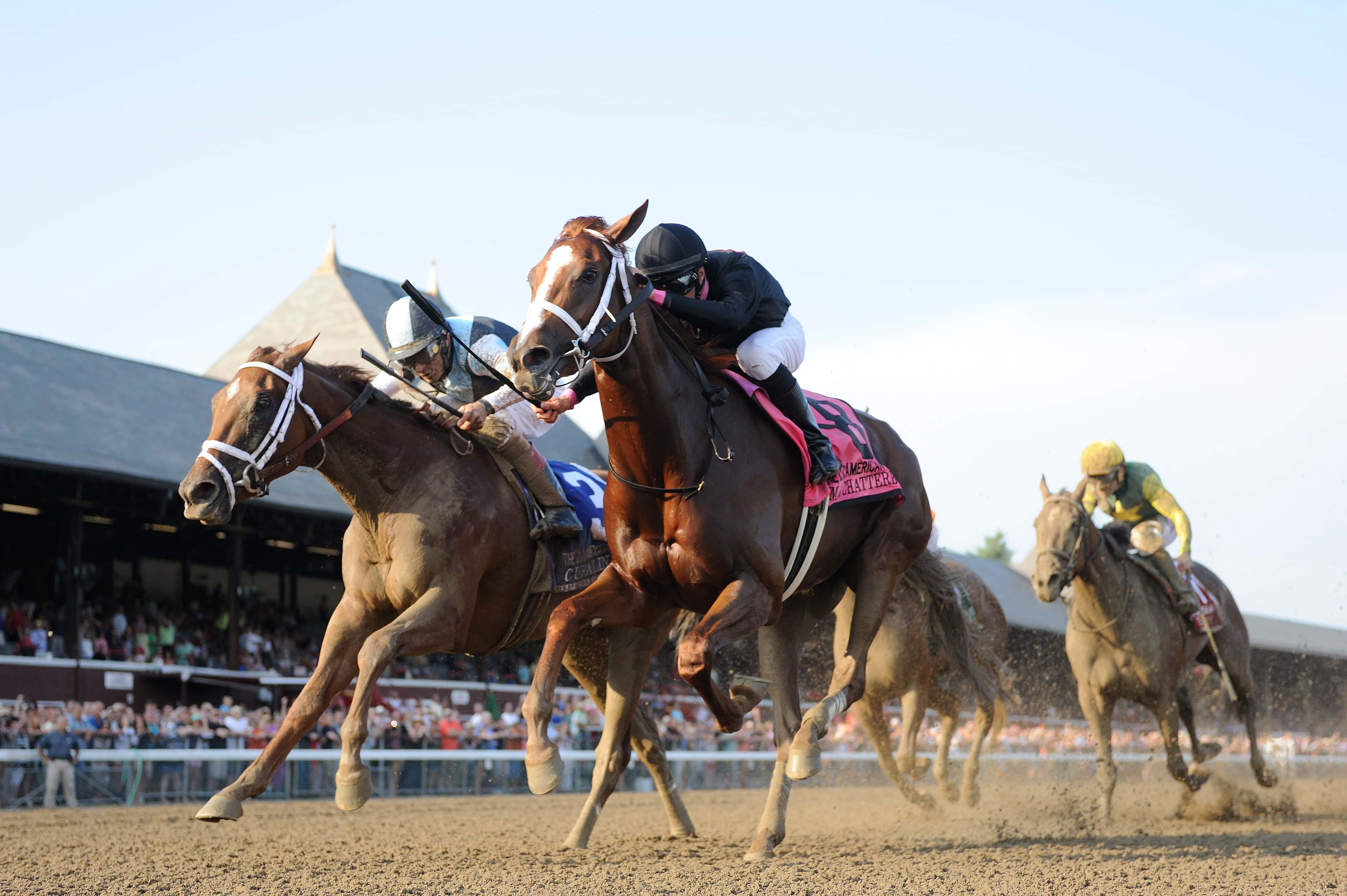 Curalina (Left) and I'm a Chatterbox in Coaching Club American Oaks at Saratoga - NYRA