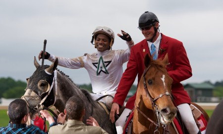 Creator and Ricardo Santana, Jr. win the Arkansas Derby - Chris Aplin