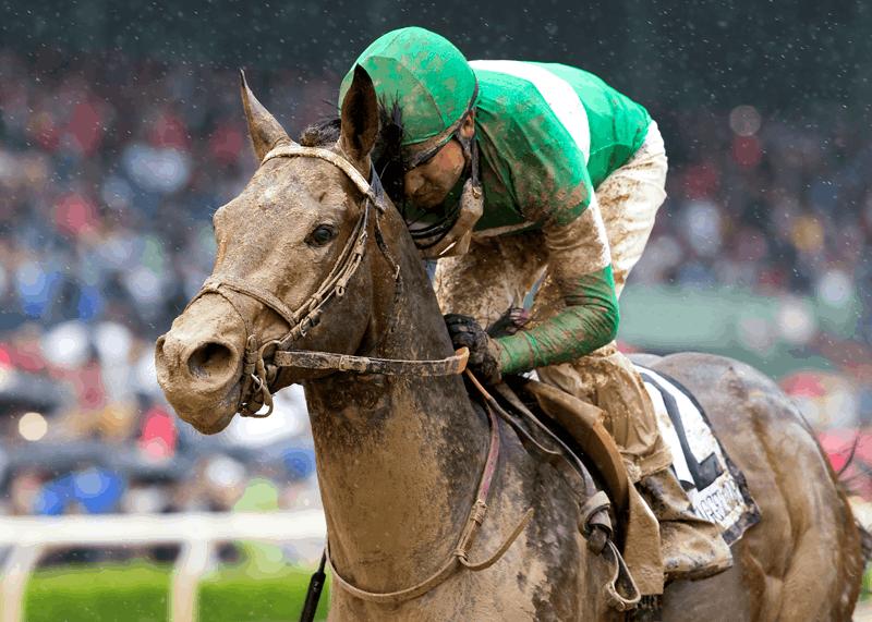 Exaggerator and jockey Kent Desormeaux win the Grade I, $1,000,000 Santa Anita Derby - Photo Credit: ©Benoit Photo