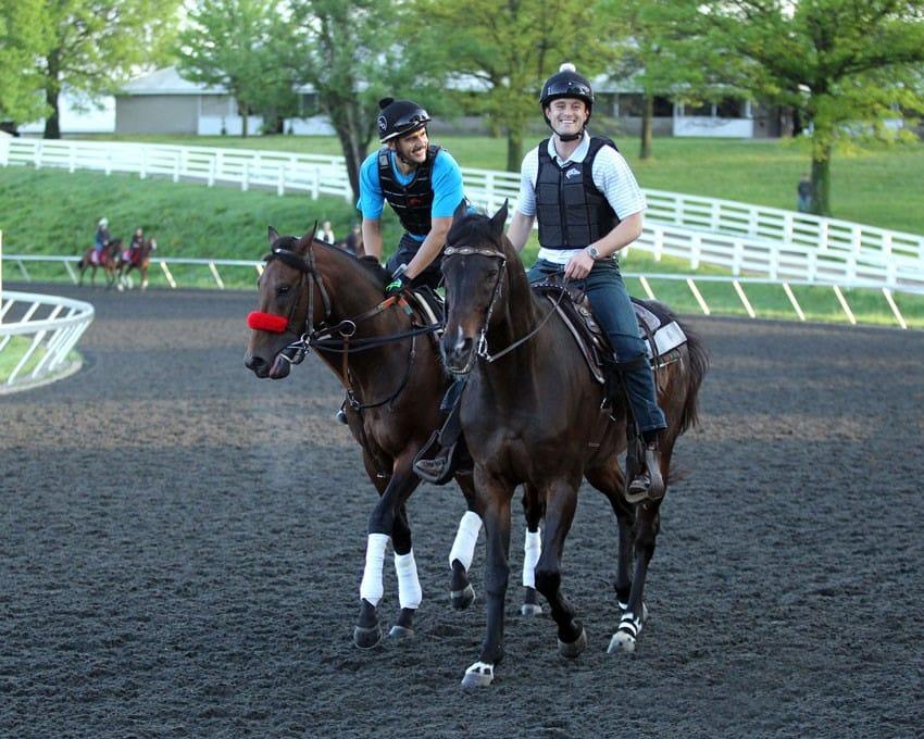 Nyquist on Keeneland training track April 28 - Photo Credit: Keeneland Photo