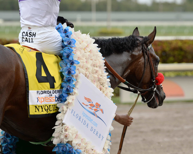 Nyquist wins the Florida Derby - Photo Credit: Coglianese Photos/Gulfstream Park