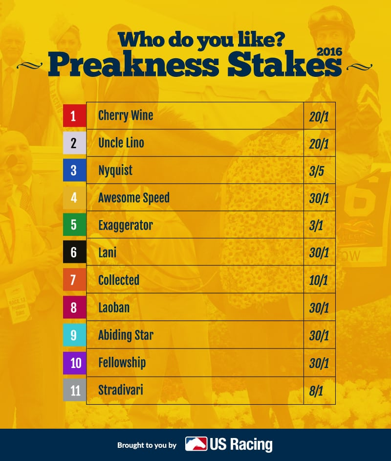 preakness-stakes-post positions