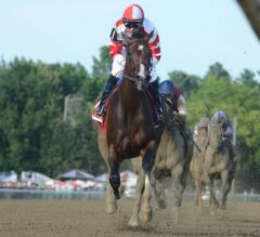 Songbird 'Heavenly' in Breeze Over Saratoga Main Track