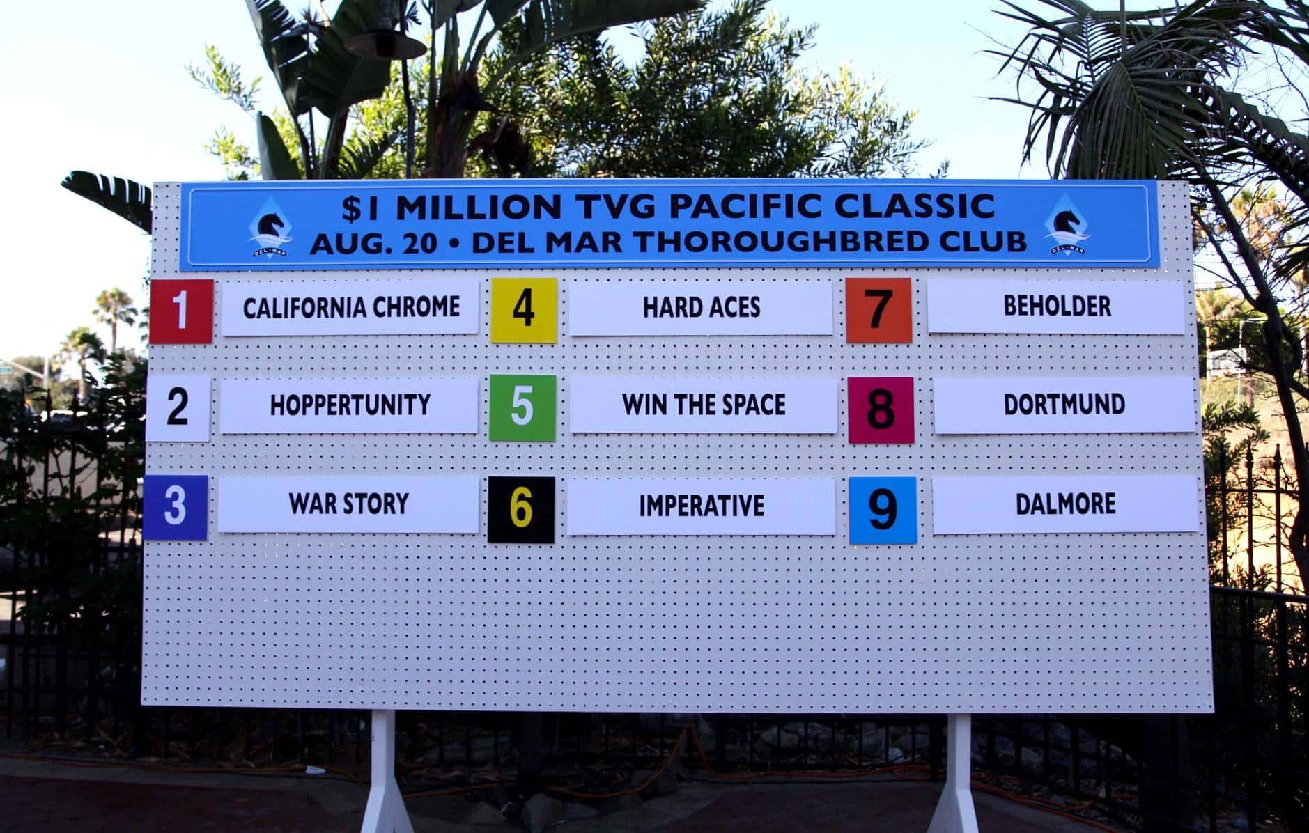 2016 TVG Pacific Classic Draw - Del Mar Thoroughbred Club