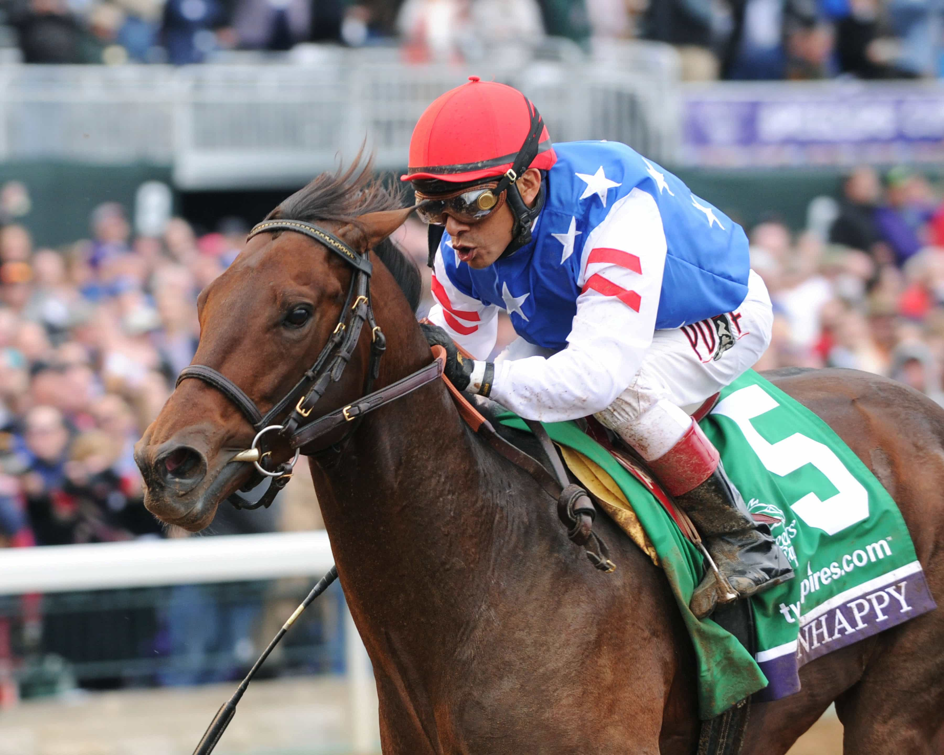 RUNHAPPY TwinSpires Breeders' Cup Sprint Gr I Keeneland Race Course     Lexington, Kentucky October 31, 2015    Race #07 Purse $1,500,000 6 Furlongs  1:08.58 James McIngvale, Owner Maria Borell, Trainer Edgar Prado, Jockey Private Zone (2nd) Favorite Tale (3rd)  Order of Finish - 5, 13, 14, 7 Please Give Photo Credit To:  / Coady Photography
