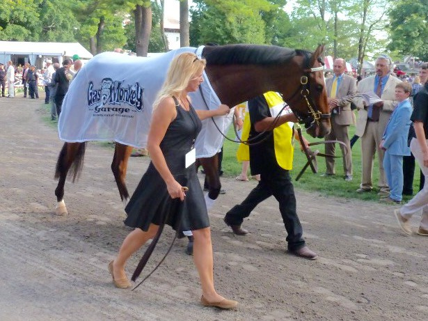 Texas Red before the 2015 Travers hasn't run in a race since then (Photo: Michael Spector)