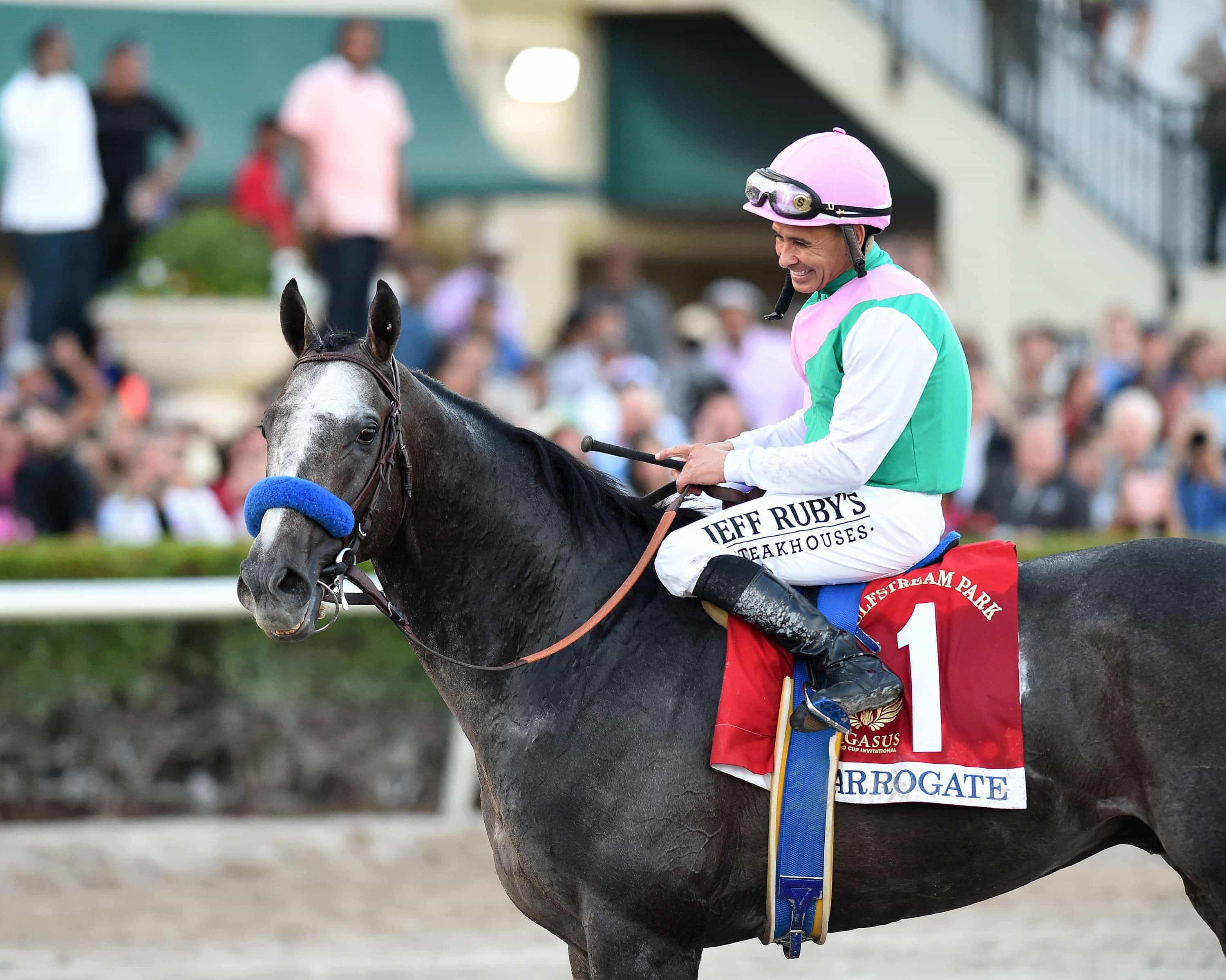 Arrogate and Mike Smith win the Pegasus World Cup Invitational - Gulfstream Park - Adam Mooshian/Coglianese Photos