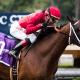 Itsinthepost wins San Luis Rey Stakes-Santa Anita-- Zoe Metz Photography