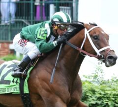 Green Mask Rolls in G3 Twin Spires Turf Sprint