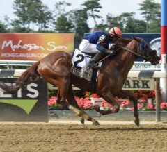 Mind Your Biscuits Romps in G2 Belmont Sprint, Earns Breeders' Cup Berth