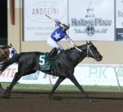 Untrapped Overtakes Battle of Midway, Wins G3 Oklahoma Derby