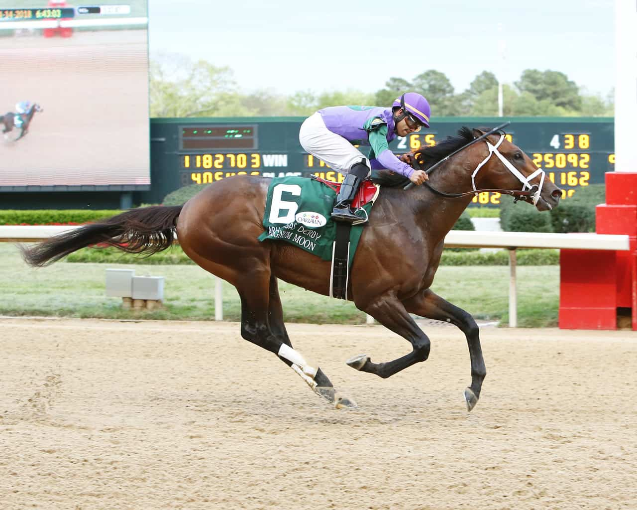 Magnum Moon cruises to victory in the Arkansas Derby