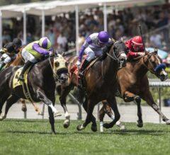 Blame the Rider Blazes to Win the $100,000 Singletary