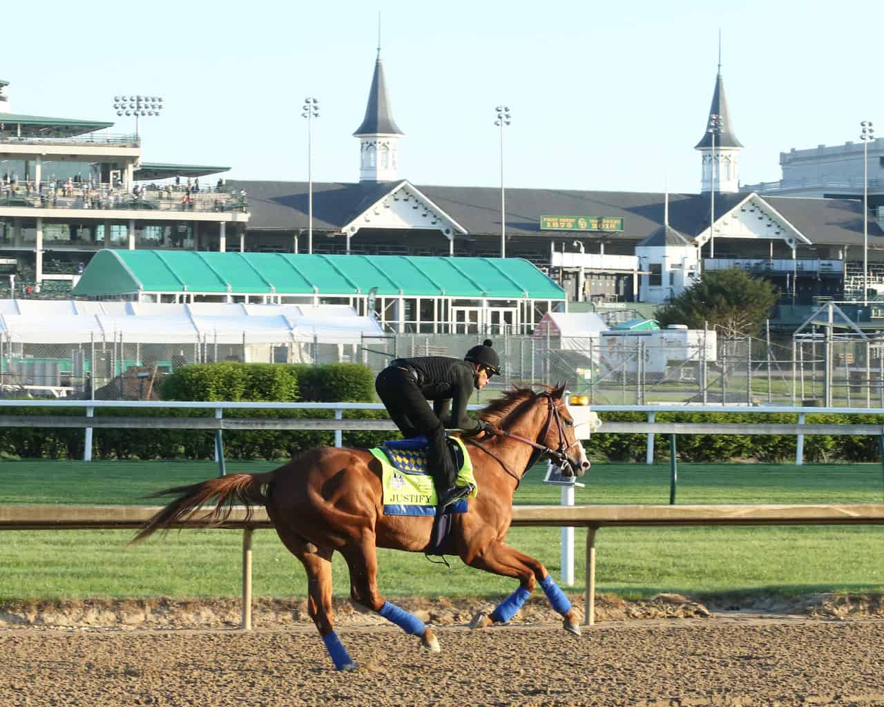 Justify Galloping Around Churchill Downs In Preparation For The Kentucky Derby Credit Coady Photography