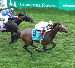 Yoshida Strikes Gold in G1 Old Forester Turf Classic