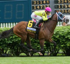 World of Trouble Wallops Twin Spires Turf Sprint