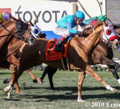 Oscar Dominguez Rallies Late, Takes Hollywood Turf Cup