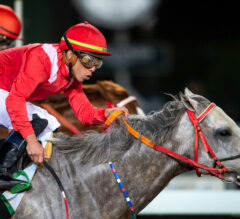 New York Central Nails Matera Sky at Wire in Saudia Sprint Cup