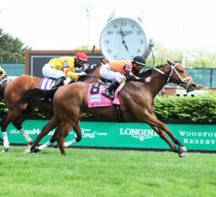 Fast Boat Blasts Home Late to Win Twin Spires Turf Sprint