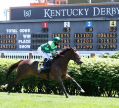 Blowout Hangs on to Win Longines Churchill Distaff Turf Mile